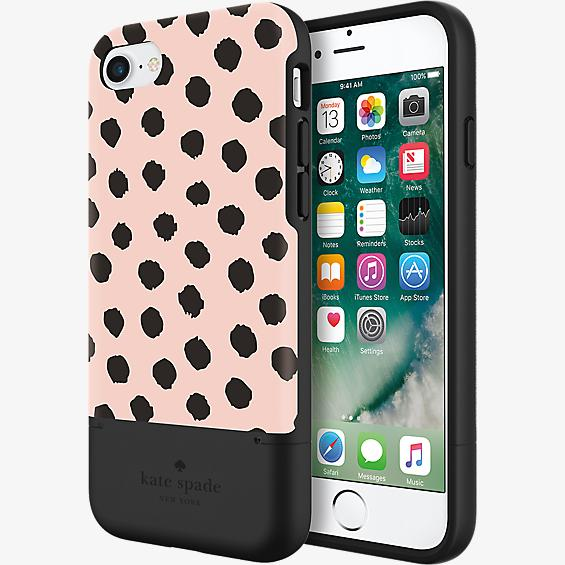 Credit Card Case for iPhone 7 - Musical Dot Blush/Black