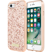 Glitter Case with Bumper for iPhone 7 - Exposed Glitter Rose Gold/Rose Gold
