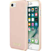 Wrap Case for iPhone 7 - Saffiano Rose Gold/Gold Logo Plate