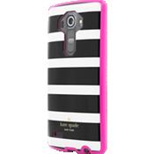 Flexible Hardshell Case for LG G4 - Black/Cream Stripe