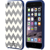 Flexible Hardshell Case for iPhone 6/6s - Chevron Silver Glitter