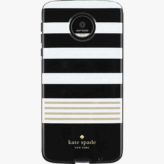 Flexible Hardshell Case for Moto Z Droid - Stripe