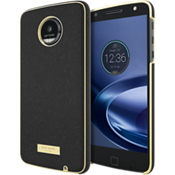 Wrap Case for Moto Z Droid - Saffiano Black