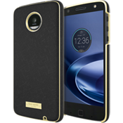 Wrap Case for Moto Z Play Droid - Saffiano Black