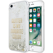 Clear Liquid Glitter Case for iPhone 7 - Glitter is My Favorite Color (Gold)