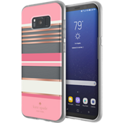 Flexible Hardshell Case for Samsung Galaxy S8+ - Berber Stripe Clear/Atlas Pink/Rose Gold Foil/Cream