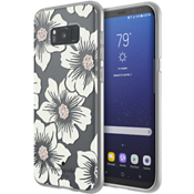 Flexible Hardshell Case for Samsung Galaxy S8+ - Hollyhock Floral Clear/Cream with Stones