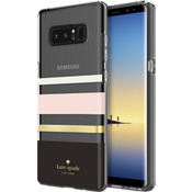 Flexible Hardshell Case for Galaxy Note8 - Charlotte Stripe Black