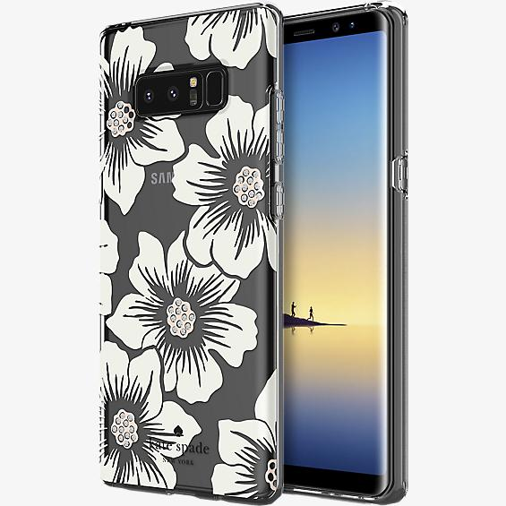 Flexible Hardshell Case for Galaxy Note8 - Hollyhock Floral Clear