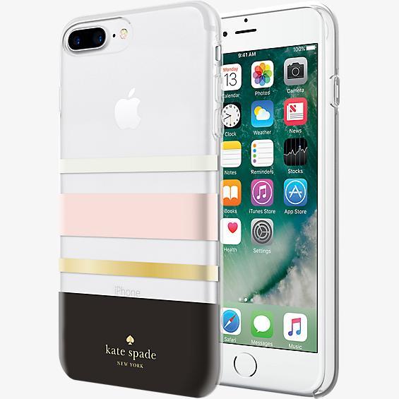 Flexible Hardshell Case for iPhone 8 Plus - Charlotte Stripe