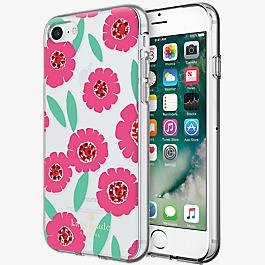 Flexible Hardshell Case for iPhone 7 - Floral Pink