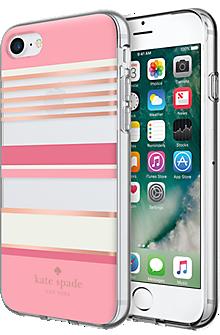 best sneakers de25c e4af9 Flexible Hardshell Case for iPhone 7 - Pink Stripe