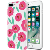 Flexible Hardshell Case for iPhone 7 Plus - Floral Pink