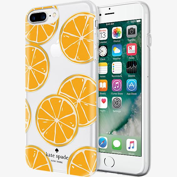Flexible Hardshell Case for iPhone 7 Plus - Orange
