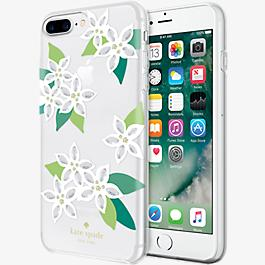Flexible Hardshell Case for iPhone 7 Plus - White Floral