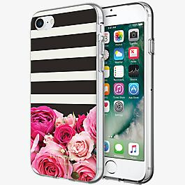 Flexible Hardshell Case for iPhone 7 - Rose Stripe