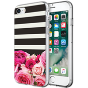 Flexible Hardshell Case for iPhone 7 - Rose Stripe
