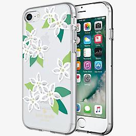Flexible Hardshell Case for iPhone 7 - White Floral