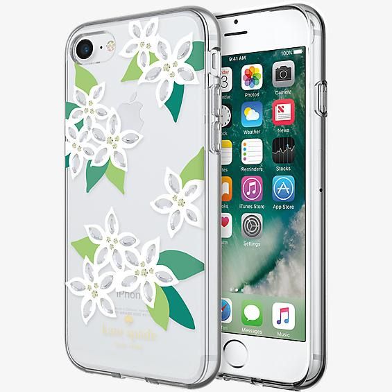 Flexible Hardshell Case for iPhone 7 - White Floral