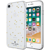 Flexible Hardshell Case for iPhone 8/7 - Scatter Dot Gold with Gems