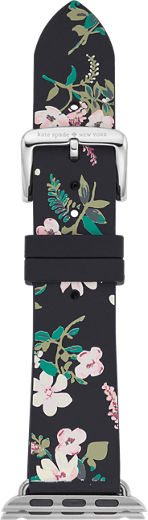 Kate Spade New York Floral Silicone Strap 38mm For Apple Watch Series 4 Black Floral Verizon