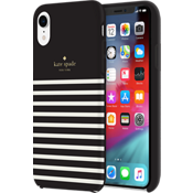 Protective Hardshell Case for iPhone XR - Black/Cream/Gold Logo