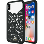 Lace Cage Case for iPhone X - Lace Hummingbird Black/Clear