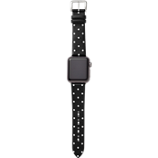 38mm Leather Calfskin Apple Watch Strap Series 3,2,1 - Black