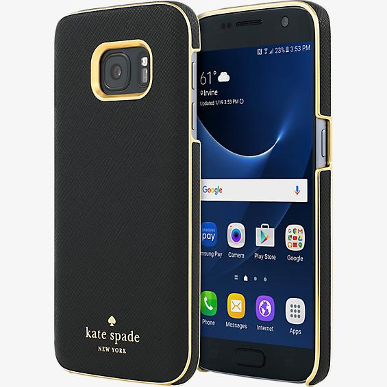 Wrap Case for Samsung Galaxy S7 - Saffiano Black