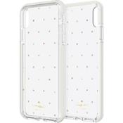 Defensive Hardshell Case for iPhone XS Max - Pin Dot Gems/Pearls/Clear