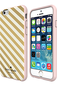new concept 92c48 6ef33 Flexible Hardshell Case for iPhone 6/6s - Gold Diagonal Stripe