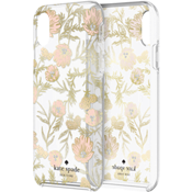 Protective Hardshell Case for iPhone XS Max - Blossom Pink/Gold Foil/Gems