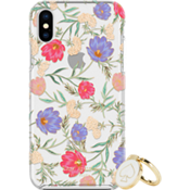 Gift Set: Stability Ring & Protective Hardshell Case for iPhone X - Blossom Multi