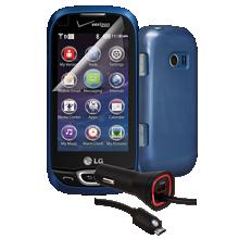 Essential Travel Bundle for LG Extravert 2 - Blue