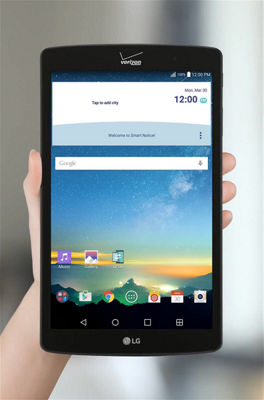Browsing the Web With Your LG G Pad™ X8.3