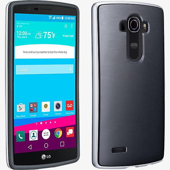 Soft Cover with Bumper for LG G4 - Black
