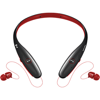 LG Tone Infinim Bluetooth Stereo Headset - Red