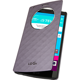 Wireless Charging Quick Circle Folio Case for LG G4 - Violet Black