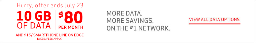 10 GB of Data for $80 per month