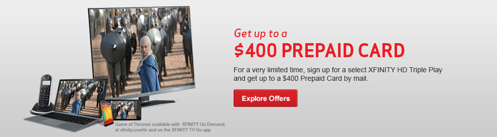 Get up to a $400 Prepaid Card