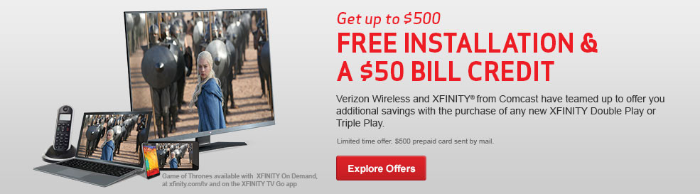 Get up to a $500, Free Installation and a $50 Bill Credit