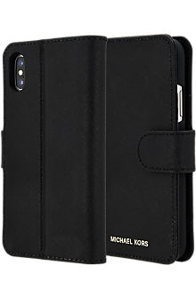 hot sale online 0f8cd 8b5a1 Saffiano Leather Folio Case for iPhone XS/X
