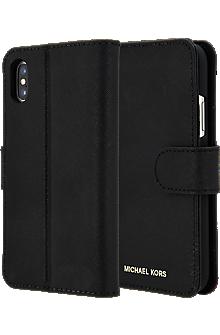 hot sale online 6d36e b1d02 Saffiano Leather Folio Case for iPhone XS/X