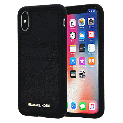 quality design e5dc1 3b8ae Saffiano Leather Pocket Case for iPhone XS/X