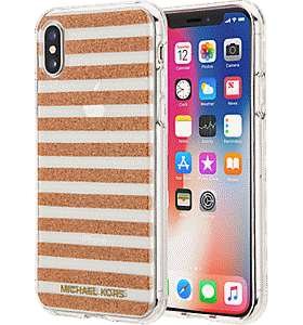 68ec889f6fb980 Michael Kors Stripe Case for iPhone XS/X Colour null