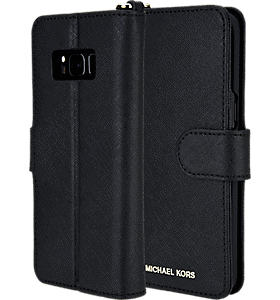 a913b820b9ad4 Michael Kors Saffiano Folio Phone Case for Galaxy S8 Colour Black