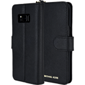 Saffiano Folio Phone Case for Galaxy S8 - Black
