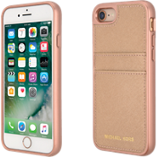 Saffiano Leather Pocket Case for iPhone 8/7 - Ballet Rose Gold