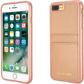 Saffiano Leather Pocket Case for iPhone 8 Plus/7 Plus - Ballet Rose Gold