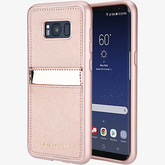 Saffiano Phone Cover with Pocket for Galaxy S8+